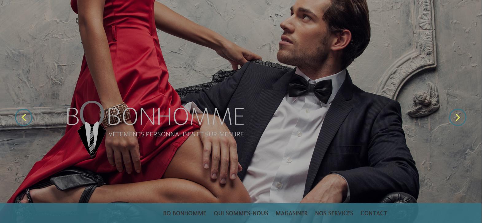 Page d'accueil du site web de Bo Bonhomme, à Mont Saint-Hilaire